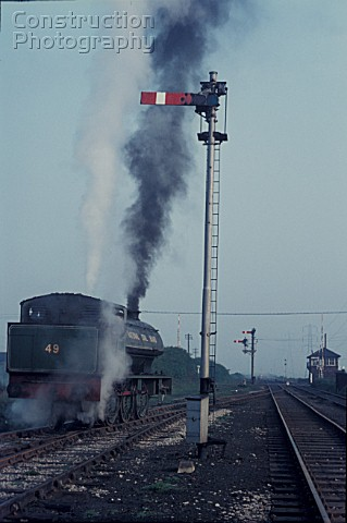 Hunslet Austerity 060ST No49 built by Robert Stephenson and Hawthorn stands alongside the Brirtish R
