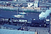 Whitehaven Docks with Andrew Barclay 0-4-0ST belonging to the National Coal Board.