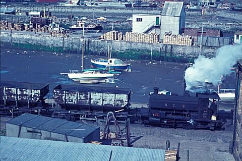 Whitehaven Docks with Andrew Barclay 040ST belonging to the National Coal Board