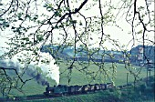Bedlay Colliery in Glenboig operated this modern looking 0-6-0T built by Andrew Barclay. A picture made on Friday 19th May 1972.