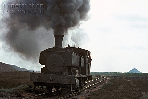 Upon Polhemmet Moor Andrew Barclay 060T No 885 of 1900 takes a breather up on the moor during the mo
