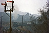 A Hunslet Austerity 0-6-0ST at work at Maesteg Colliery in South Wales on Thursday 23rd December 1971