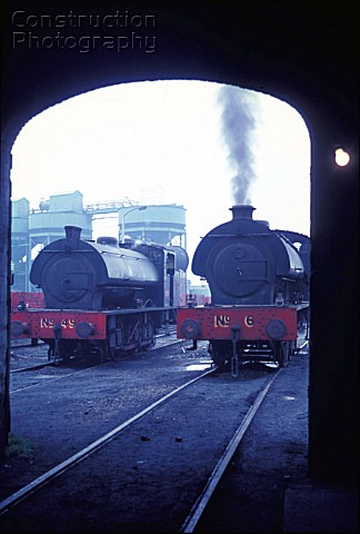 Two Austerity 060STs Left National Coal Board No49 a Robert Stephenson and Hawthorn example with Gie