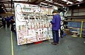 Assembling wiring looms for the Virgin Voyager at Bombardiers works at Wakefield c2001