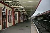 General view of platforms and platform buildings at Aviemore station, Scotland. 2007