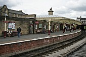 One of the Keighley and Worth Valley Railway platforms at Keighley station, Yorkshire. 2007
