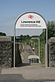 Entrance to Lawrence Hill station near Bristol. 2007