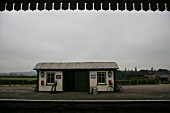 Platform building at the preserved Metropolitan Railway station at Quainton Road, Buckinghamshire. 2007