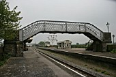 Platform and foot bridge at the preserved Metropolitan Railway station at Quainton Road, Buckinghamshire. 2007