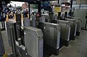 Automated ticket barriers at St Albans City station, Hertfordshire. 2007