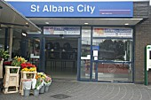 Frontage of St Albans City station, Hertfordshire. 2007