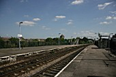 General view from the platform at Stapleton Road station near Bristol. 2007
