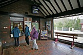 Interior of the booking hall at Bodmin Parkway, Cornwall. 2006.