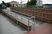 Access ramps at Carlton station, Nottinghamshire. 2007