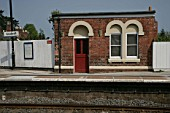 Platform and old office building at Codsall station, Staffordshire. 2007