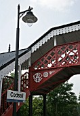 Newly refurbished footbridge and platform lighting at Codsall station, Staffordshire. 2007