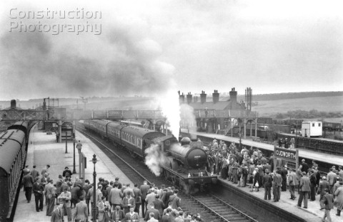 A railtour passenger service headed by locomotive number 62360 at Cudworth station One of HBPs most
