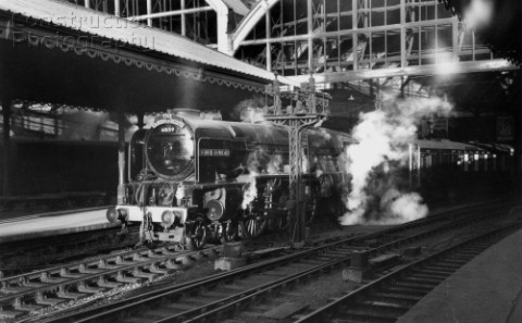 ExLNER Pacific No 60159 Bonnie Dundee an Edinburgh Haymarket engine heads the Up Queen of Scots at N