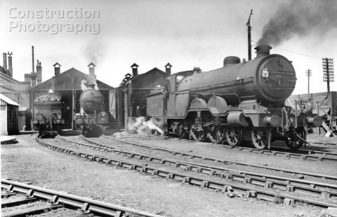 Newhaven shed on 12th July 1947 IN pride of place is No2037 Selsey Bill one of the classic Marsh LBS