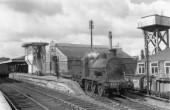 The former City of Dublin Junction Railway linked Amiens Street and Westland Row. Here, Class J15B No.717, an Inchicore development of the J Class 0-6-0s of the GSR, passes Amiens Street cabin on 13th August 1956