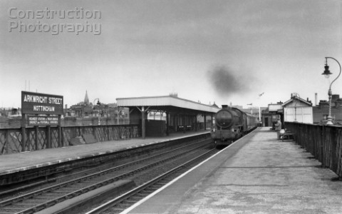 Nottingham Arkwright Street station was situated 1 mile south of Nottingham Victoria on the GC main