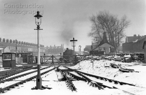 A rare scene taken on the remoteness of the Midland Railways Barnoldswick branch which ended in sidi