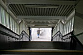 Pedestrian stairway on overbridge at Acocks Green station, Birmingham. 2007