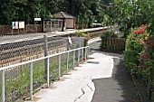 Access ramp to the platform at Yardley Wood station, West Midlands. 2007