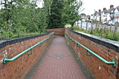 Pedestrian access ramp at Coseley station, West Midlands. 2007