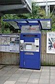 Automated ticket machine at Warwick Parkway station, Warwickshire. 2007