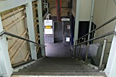 Stairway access and lift entrance at Smethwick Galton Bridge station, West Midlands. 2007