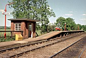 Aspley Guise station on the Bedford to Bletchley line. C1991