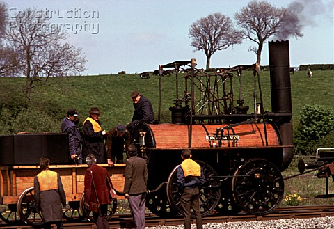 Working replica of Locomotion at Shilton May 1975