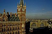 St Pancras and Kings Cross station, London. C1995