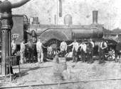 A Massey Bromley GER 4-2-2 of 1879. Ten of these were built by Dubs and Co followed by ten more from Kitson in 1881/2