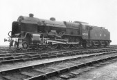 LMS 3 cylinder Patriot Class 4-6-0 No. 5500 Patriot designed by Fowler. C1937