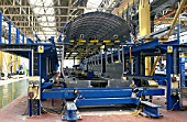 Body shell of Class 165 under construction at York. C1993