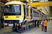 Assembling Class 465 EMUs at Met Cammel works at Washwood Heath, Birmingham. C 1993