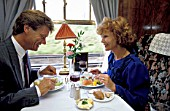 A romantic dinner for two aboard the VSOE Orient Express. C 1991