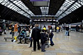 Busy concourse scene at Glasgow Queen station. July 2003