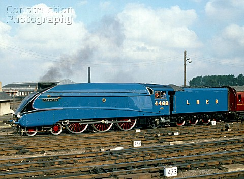 South Yorkshire Pullman No4468 Mallard runs forward at York prior to backing onto its train 4th Octo